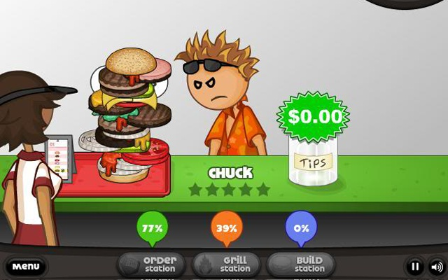 Serve sandwiches for all customers in Papa's Burgeria Online