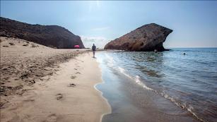 La playa de Mónsul.