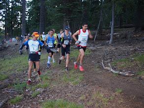Photo: Max King (1) lets Mario Mendoza (109) and Ryan Bak (173) take the lead