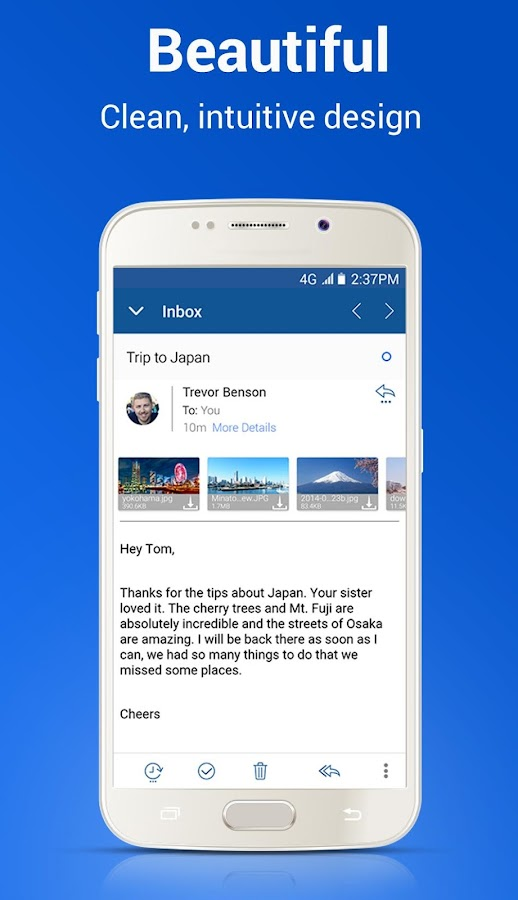 Blue Mail - Email App - Gmail, Outlook, Office 365 – screenshot