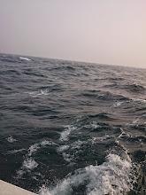 Photo: 最初のポイント着きましたが・・・波が高く。