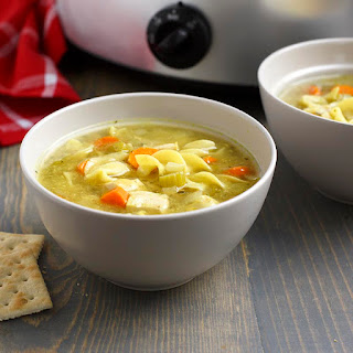 Slow Cookers Chicken Noodle Soup.