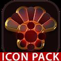 Vesuv icon pack red glow gold black icon