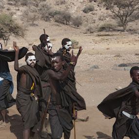Maasai Initiates by VAM Photography - People Street & Candids ( tanzania, places, young me, culture, boys, maasai )