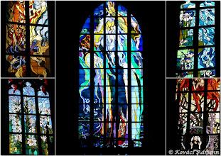 Photo: Szent Ferenc székesegyház híres Wyspiański ólomüvege ablakai kollázs