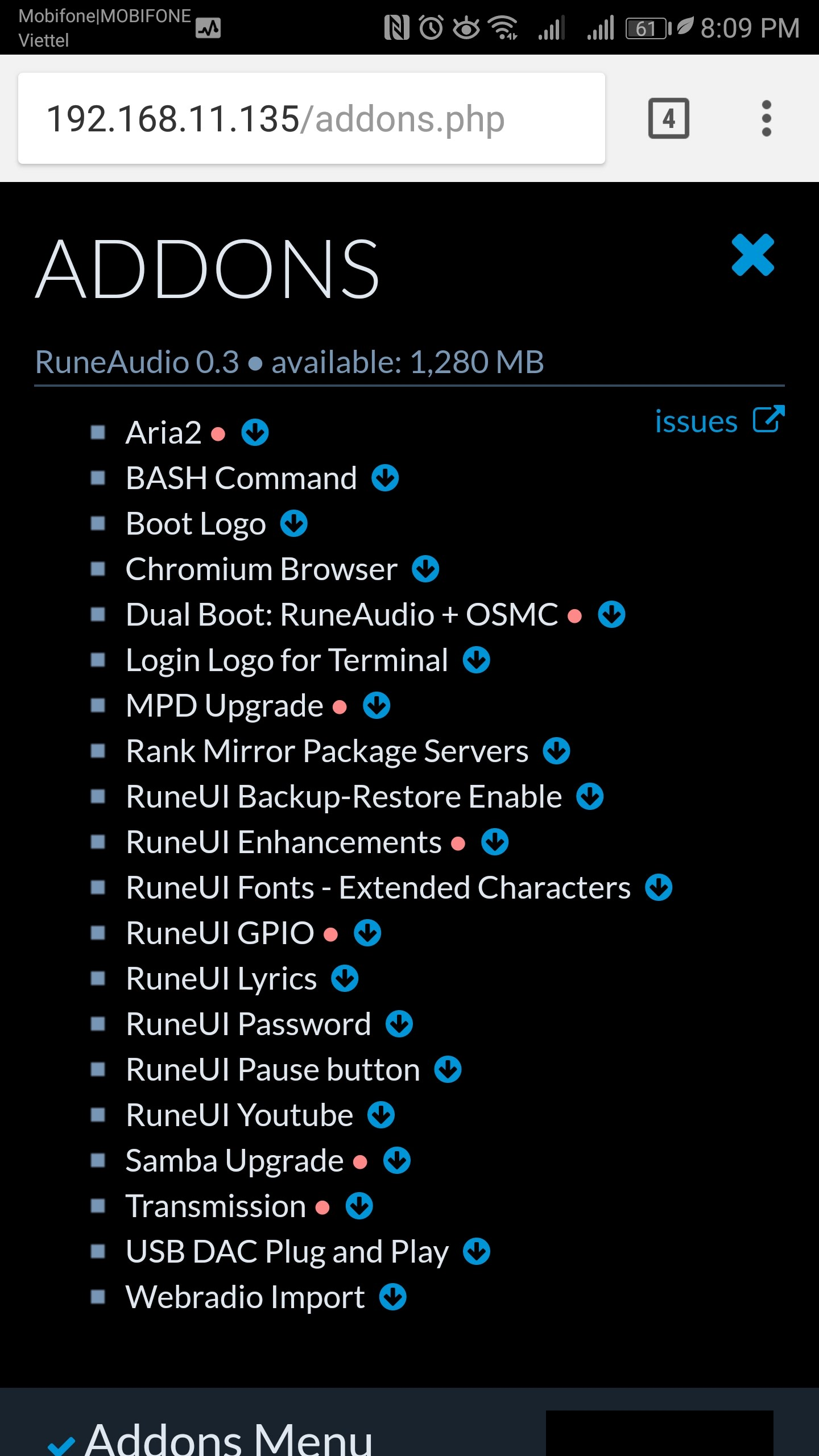 Addon] Addons Menu - Install addons the easy way : Raspberry Pi