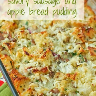 Savory Sausage and Apple Bread Pudding