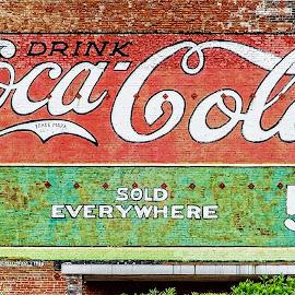 Coke! by Richard Michael Lingo - Artistic Objects Signs ( artistic objects, signs, coke, coca cola, building )
