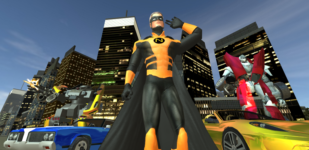 Download Naxeex Superhero APK latest version game for android devices