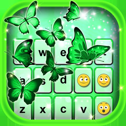霓虹 綠 鍵盤主題 通訊 App LOGO-APP開箱王
