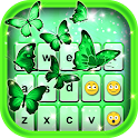 Neon Green Emoticon Keyboard icon