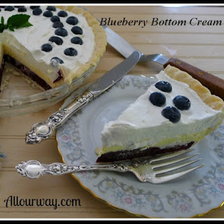 Blueberry Bottom Cream Pie.