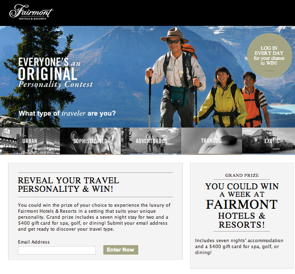 How Fairmont Hotels Used Facebook Contest to Segment Audiences