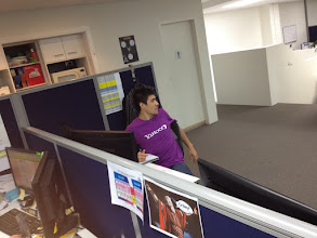 Photo: Chris going Yahoo in cognito!
