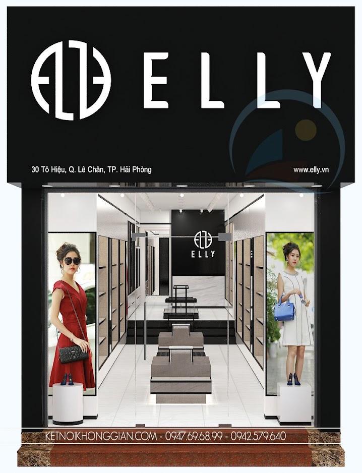thiết kế cửa hàng túi xách thời trang Elly 1