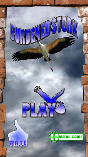 Burdened Stork