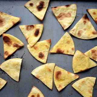 Baked Corn Tortilla Chips.