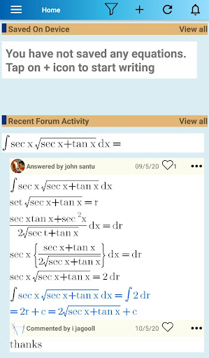 Equation Editor and Math Question and Answer Forum 2.226 screenshots 1