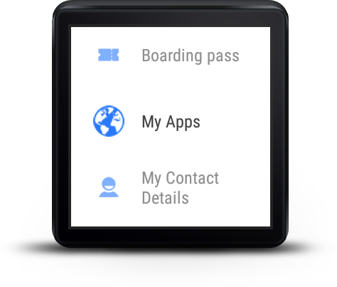 Wear Codes for Android Wear – Screenshot
