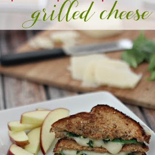 Healthy Spinach Pesto Havarti Grilled Cheese.