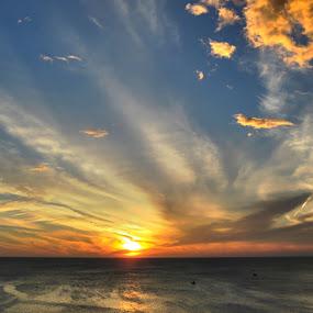 sunset by Dola Das - Landscapes Sunsets & Sunrises ( #cloud, #nature, #sunset, #travel, blue, orange. color )