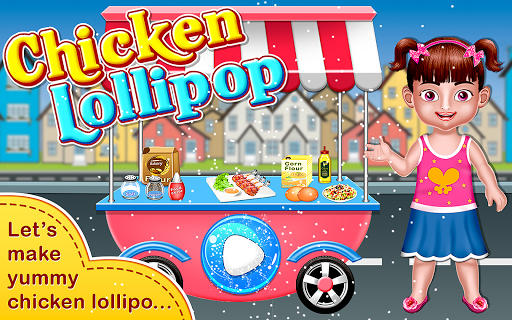 Chicken Lollipop-Cooking Maker  Street Food screenshot 5