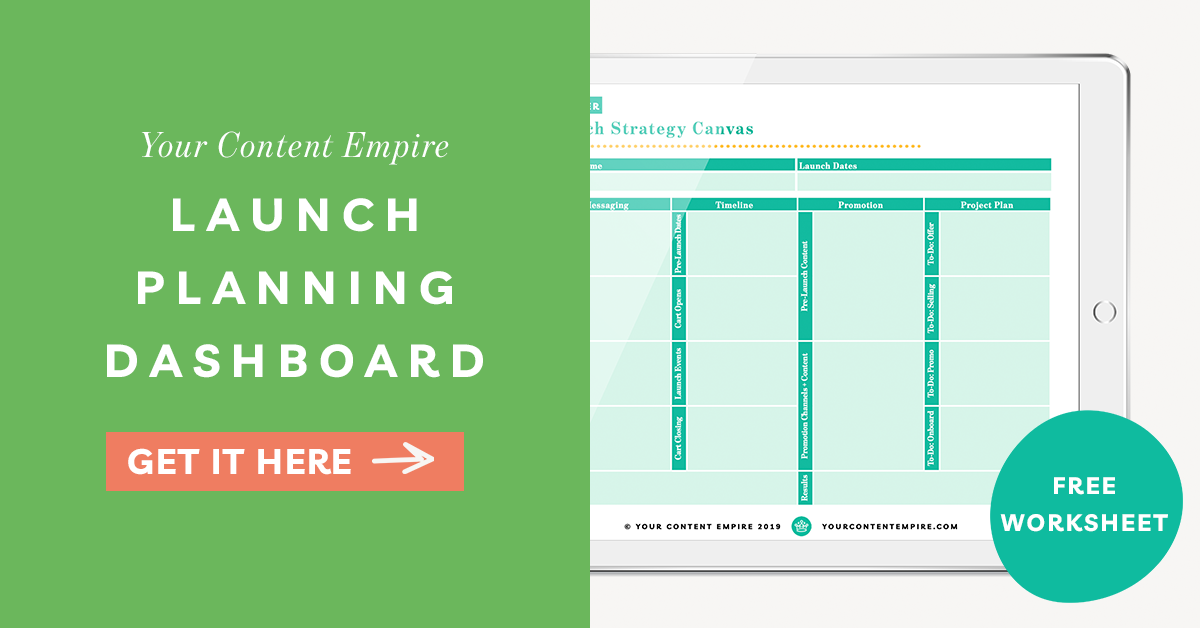 Freebie | Launch Planning Dashboard