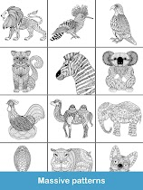 Coloring pages:Animals Mandala - screenshot thumbnail 16
