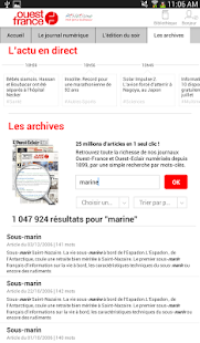 Ouest-France - Le journal Capture d'écran