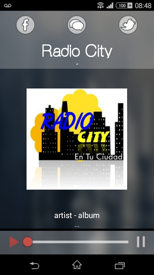 Radio City: captura de pantalla