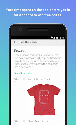 Fighter App Screenshot
