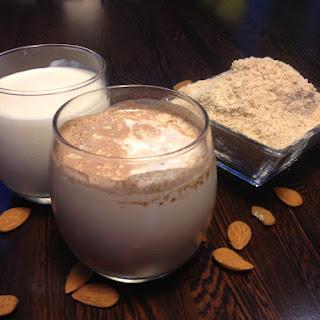 Homemade Almond Milk, Chocolate Milk and Almond Flour