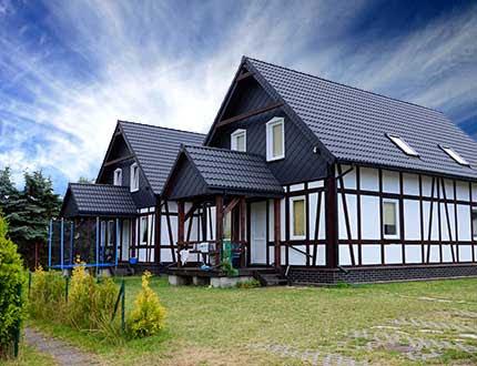 Dwa domy z muru pruskiego