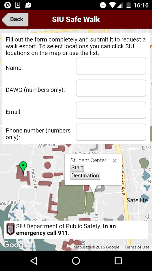 SIU Safe Walk- screenshot
