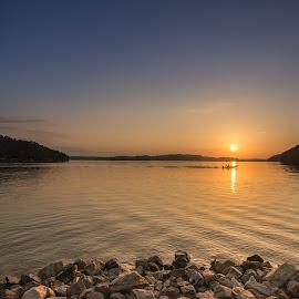Lake Life by James Woodward - Landscapes Waterscapes ( sunrise, georgia, lake life, fishing, lake )