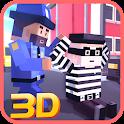 Blocky Robbers VS Cop Craft 3D icon
