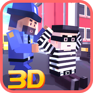 Blocky Robbers VS Cop Craft 3D for PC and MAC