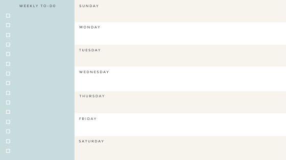 Blue Weekly Planner - Planner Template