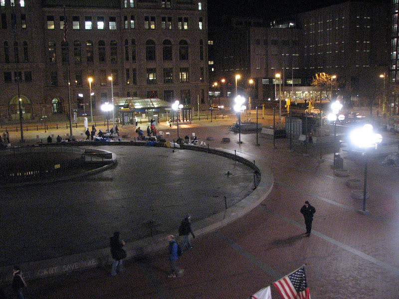 Photo: 2011.11.14 Monday evening (day 39) Hennepin County plaza, right
