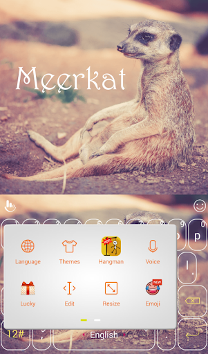 玩免費個人化APP|下載Cute Meerkat Keyboard Theme app不用錢|硬是要APP