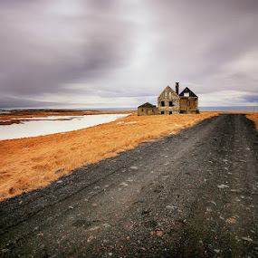 Abandoned by Luca Libralato - Buildings & Architecture Other Exteriors ( iceland, snow, house, dramatic sky, country )