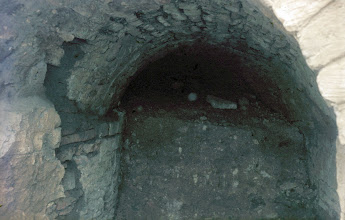Photo: Look into the entrance where the aqueduct water entrered the Ars-basin