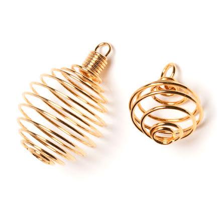 Spiral guldfärgad med ögla