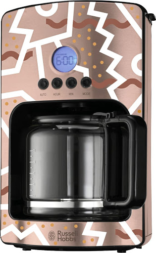 Karabo Poppy Moletsane collaborated with Russell Hobbs to create this stylish coffee maker.