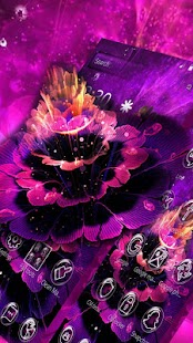 Purple Water Flower Theme - náhled