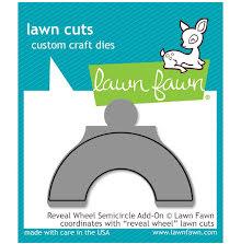 Lawn Fawn Custom Craft Die - Reveal Wheel Semicircle Add-On