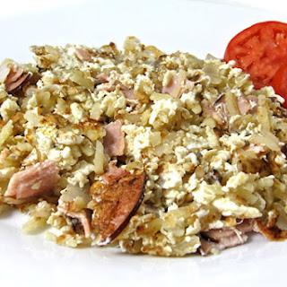 Egg Whites, Lean Ham and Hash Browns Scramble Recipe