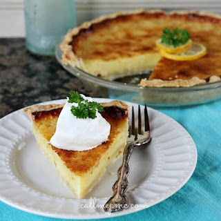 Lemon Chess Pie With Coconut Oil Pie Crust.
