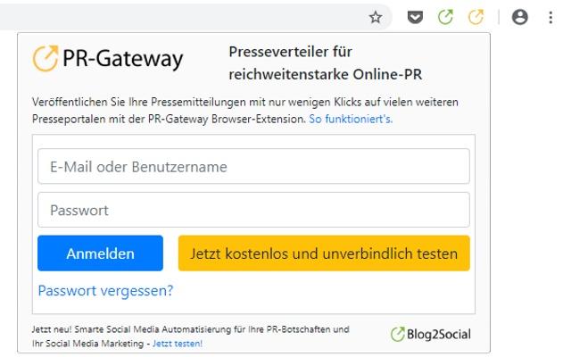 PR-Gateway: Presseportal Extension