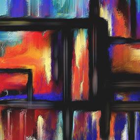 Pandora's Parodie Glen Sande © 2016 Original Abstract Digital Painting created in Corel Painter 2016 by Glen Sande - Painting All Painting